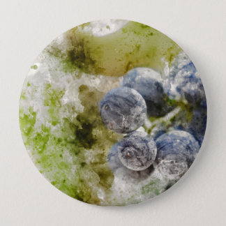 Red Wine Grapes in the Vineyard 4 Inch Round Button