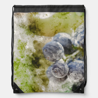 Red Wine Grapes in the Vineyard Drawstring Bag