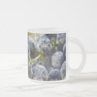 Red Wine Grapes in the Vineyard Frosted Glass Coffee Mug