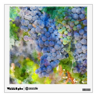 Red Wine Grapes in the Vineyard Wall Decal