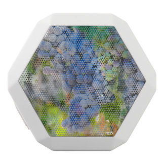 Red Wine Grapes in the Vineyard White Bluetooth Speaker