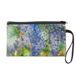 Red Wine Grapes in the Vineyard Wristlet