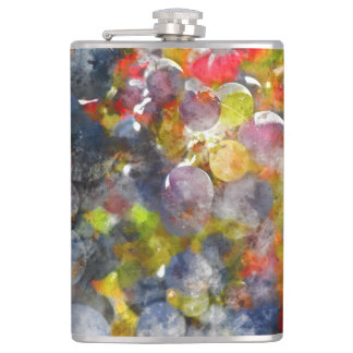 Red Wine Grapes on the Vine Flask
