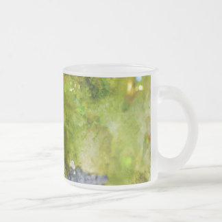 Red Wine Grapes on the Vine Frosted Glass Coffee Mug