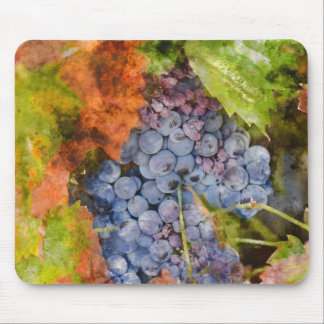 Red Wine Grapes on the Vine Mouse Pad
