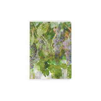 Red Wine Grapes on the Vine Passport Holder