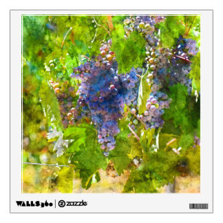 Red Wine Grapes on the Vine Wall Sticker