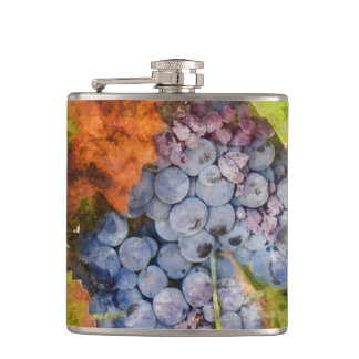 Red Wine Grapes on Vine Flasks
