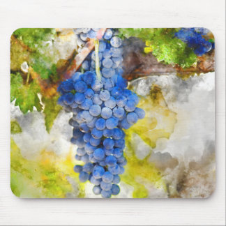 Red Wine Grapes on Vine Mouse Pad