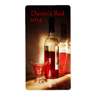 Red Wine in Morning Light Wine Label