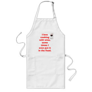 Red Wine Long Apron