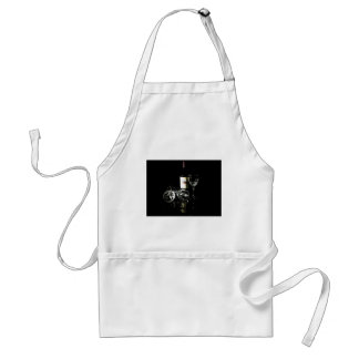 Red Wine Lover Bottle and Glasses Standard Apron