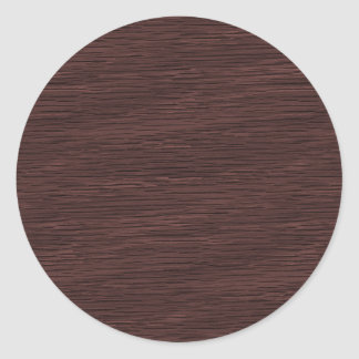 Red Wine Natural Oak Wood Grain Look Classic Round Sticker