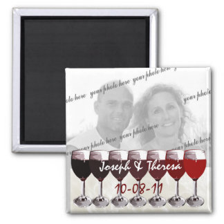 Red Wine Photo Magnet