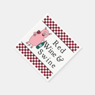 Red Wine & Swine Paper Napkin