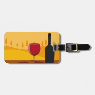 Red wine Tuscany Luggage Tag