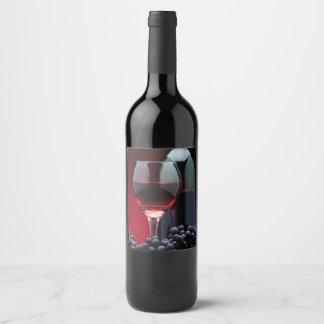 Red Wine Wine Label