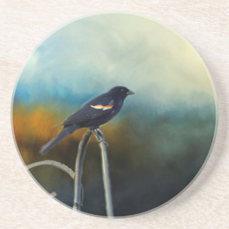 RED Wing Blackbird Beverage Coaster