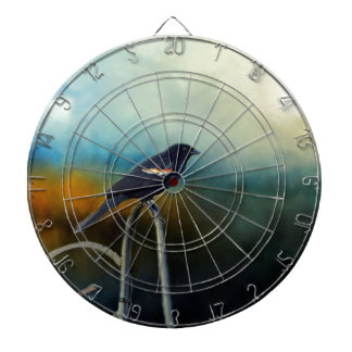 RED Wing Blackbird Dartboard