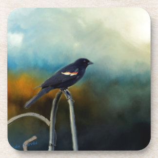 RED Wing Blackbird Drink Coaster