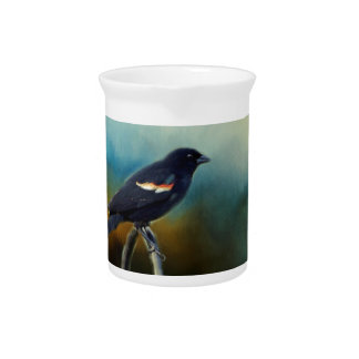 RED Wing Blackbird Drink Pitcher