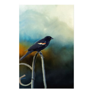 RED Wing Blackbird Personalized Stationery