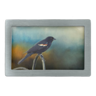 RED Wing Blackbird Rectangular Belt Buckles