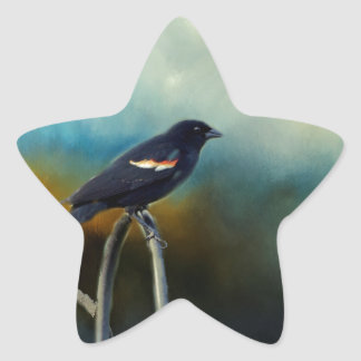 RED Wing Blackbird Star Sticker