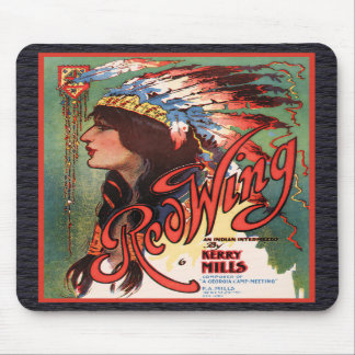 Red Wing Indian Maiden Mousepad