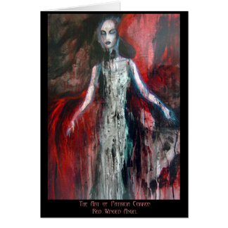 Red Winged Angel Card