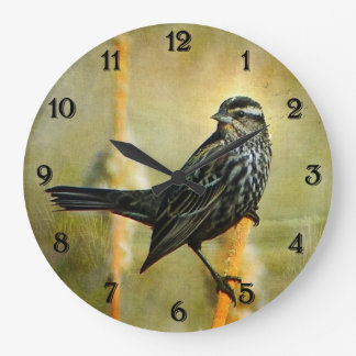 Red-winged Blackbird Clock