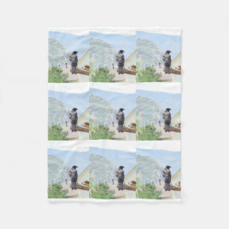 Red Winged Blackbird Fleece Blanket
