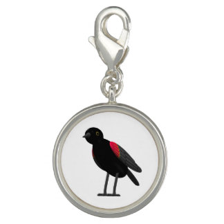 Red Winged Blackbird Photo Charms