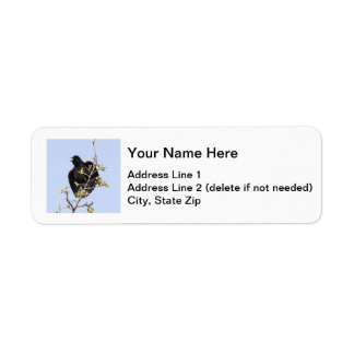 Red-winged Blackbird Return Address Label
