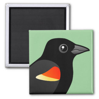 Red-winged Blackbird Square Magnet