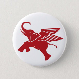 Red winged elephant 2 inch round button