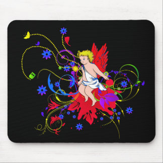Red Winged Faerie (Fairy) Mouse Pad