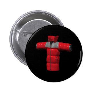 Red Winter Coat 2 Inch Round Button