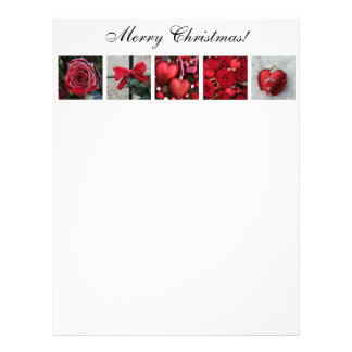 Red winter collage Letterpaper Personalized Letterhead