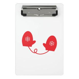 Red Winter Mittens Mini Clipboard
