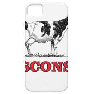 red Wisconsin cow Case For The iPhone 5