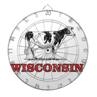 red Wisconsin cow Dartboard