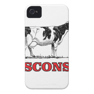 red Wisconsin cow iPhone 4 Case-Mate Case
