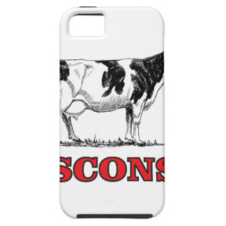red Wisconsin cow iPhone 5 Covers
