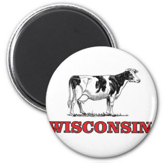 red Wisconsin cow Magnet