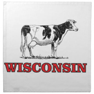 red Wisconsin cow Napkin