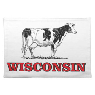 red Wisconsin cow Placemat