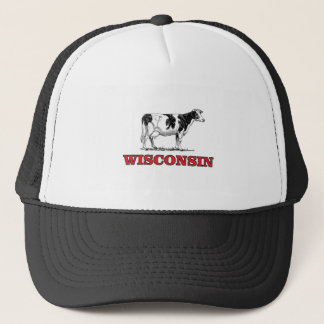 red Wisconsin cow Trucker Hat