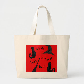 Red Witch supplies design Large Tote Bag