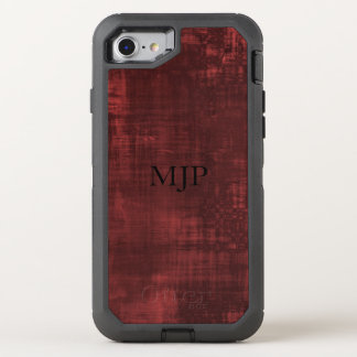 Red with Black Monogram OtterBox Defender iPhone 8/7 Case